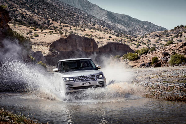 range rover water crossing